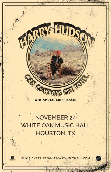 Harry Hudson: Can Cowboys Cry Tour, JP Saxe: Main Image