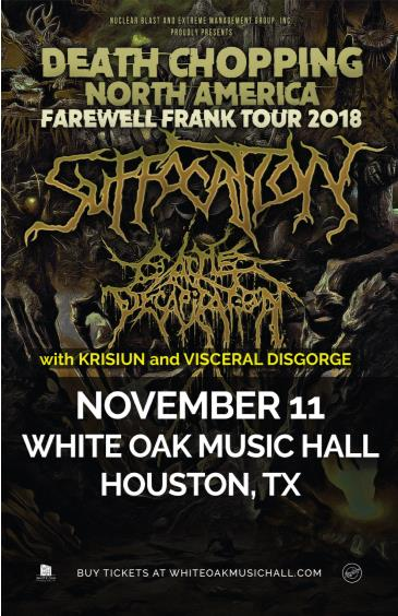 Suffocation, Cattle Decapitation, Krisiun, Visceral Disgorge: Main Image