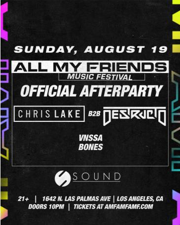 All My Friends MF Official Afterparty - Special Guest TBA: Main Image