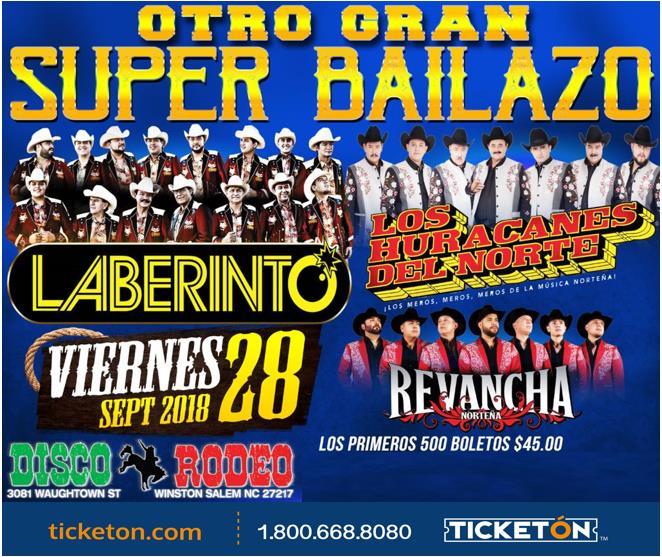 Huracanes Y Laberinto Atlanta Tickets Boletos Disco Rodeo