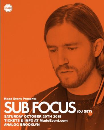 Sub Focus (DJ Set): Main Image