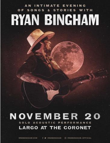 An Intimate Evening of Songs & Stories with Ryan Bingham: Main Image