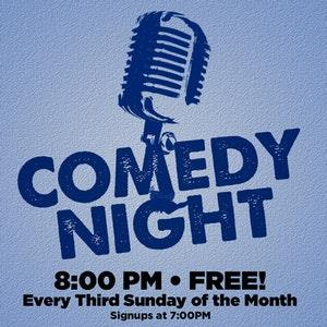 COMEDY OPEN MIC (Postponed) EVERY 3RD SUNDAY: Main Image