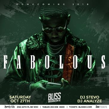 """FABOLOUS AT BLISS  """"HOMECOMING EDITION"""": Main Image"""