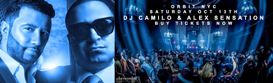 Dj Camilo & Alex Sensation live Saturday Sept 13th Orbit NYC tickets | GametightNY.com