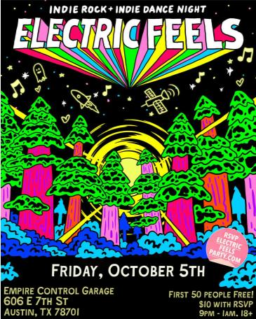 Electric Feels: Indie Rock + Indie Dance Party All Night: Main Image