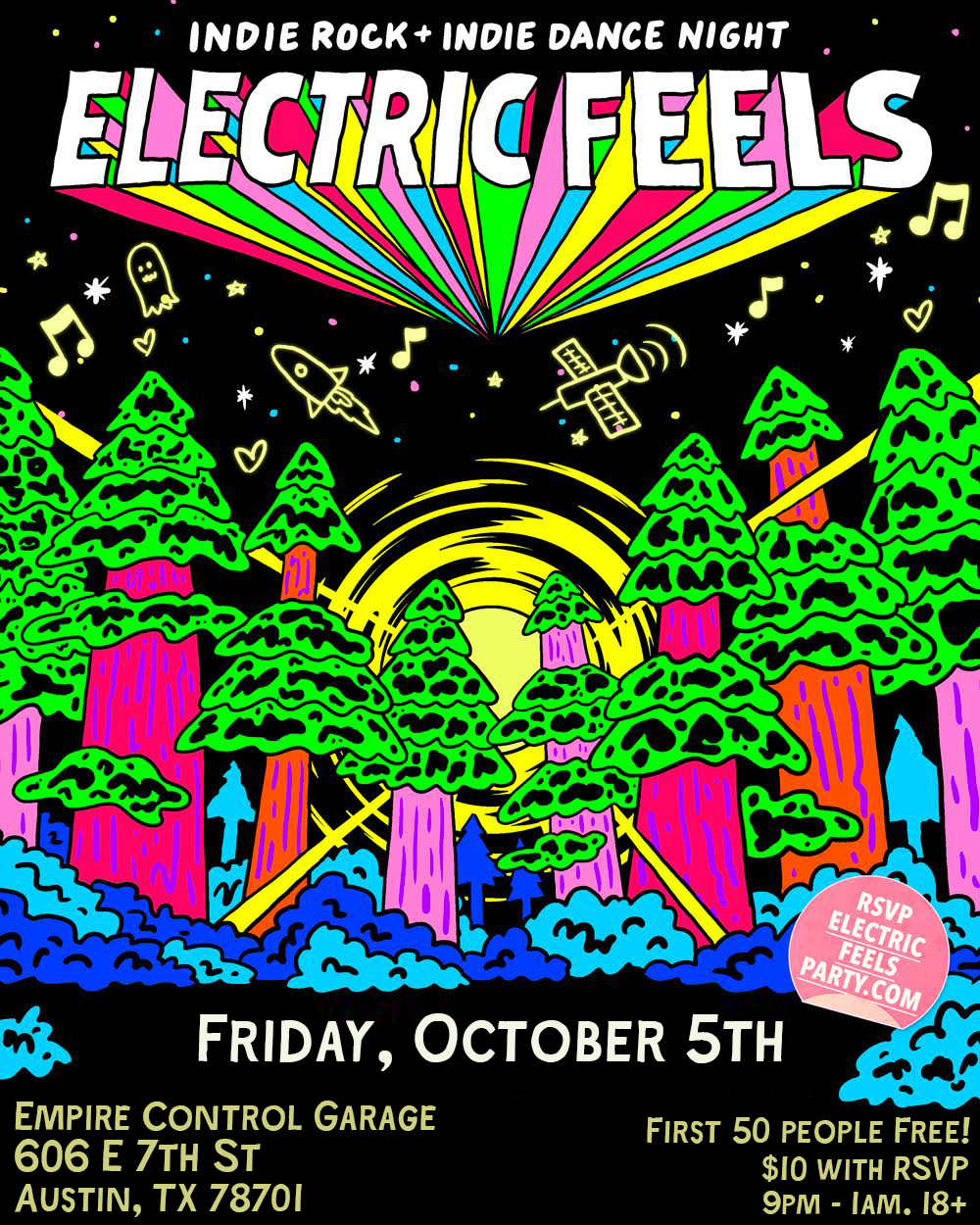 Electric Feels: Indie Rock + Indie Dance Party All Night