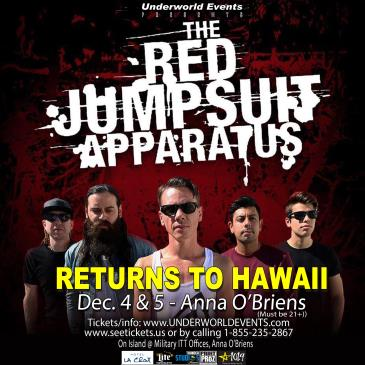 Red Jumpsuit Apparatus Presented by Underworld Events: Main Image