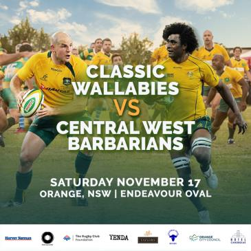 Classic Wallabies vs Central West Barbarians