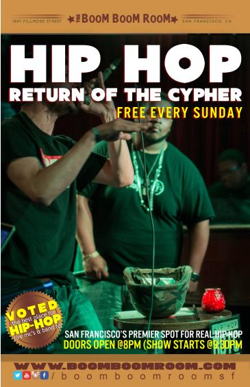 Return Of The Cypher (free show) Hip Hop, Bands, Rap Battles: Main Image