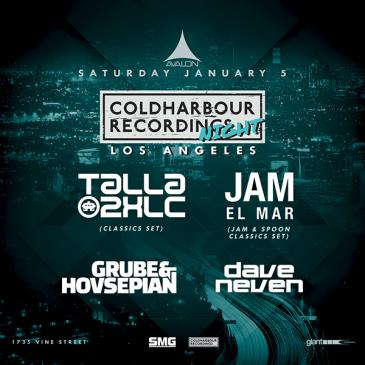 Coldharbour Night: Talla 2XLC, Jam El Mar, Grube & Hovsepian: Main Image