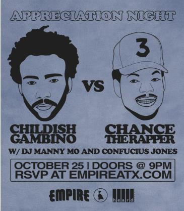 Appreciation Night: Childish Gambino vs Chance the Rapper: Main Image