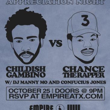 Appreciation Night: Childish Gambino vs Chance the Rapper-img