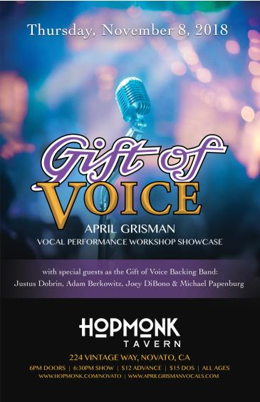 Gift of Voice (April Grisman Vocal Workshop/Showcase): Main Image