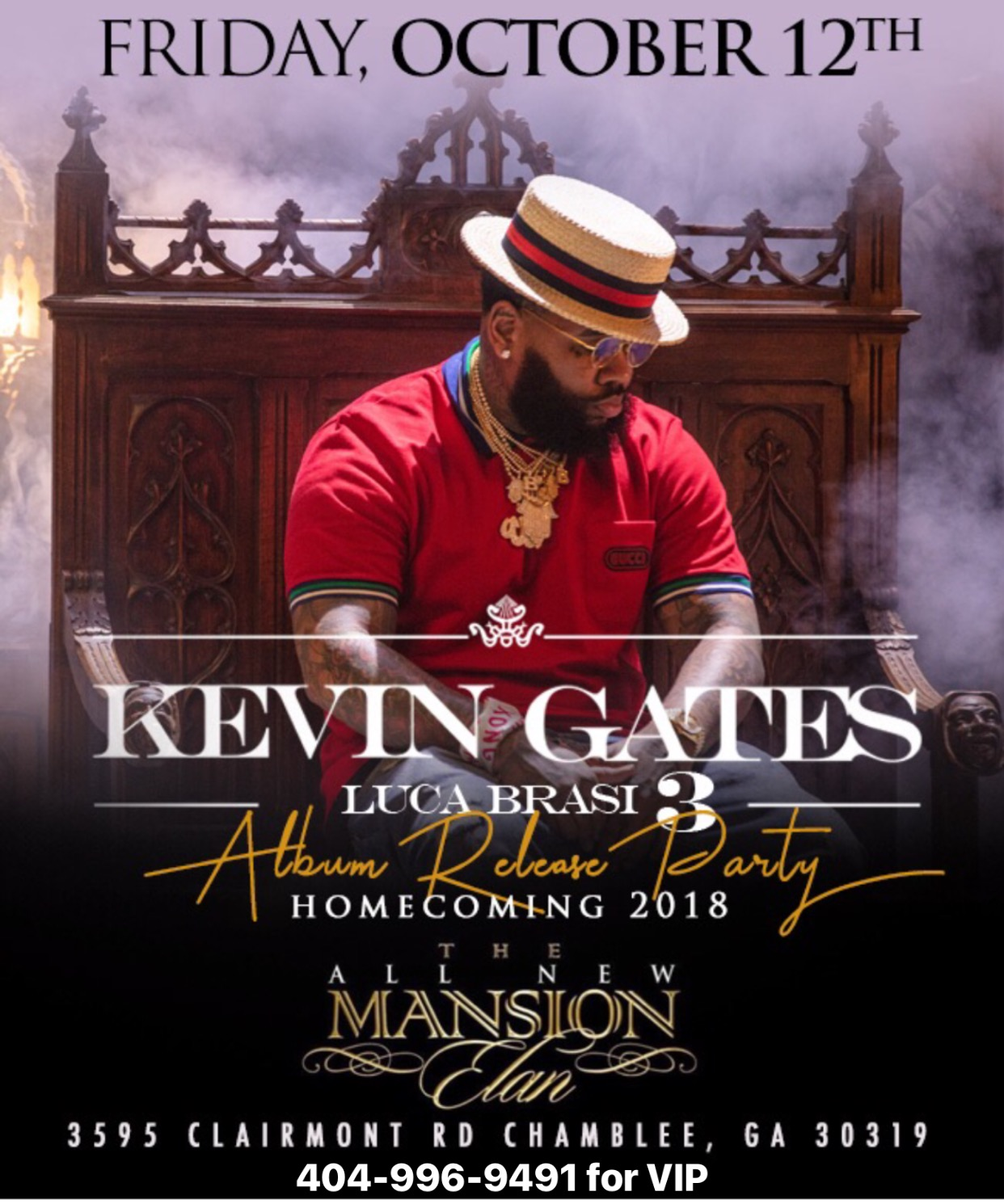 Kevin Gates Album Release Party Tickets 10/12/18