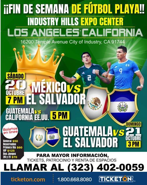 Mexico Vs El Salvador City Of Industry Hills Expo Center