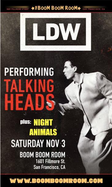 LDW (Talking Heads Tribute) and Night Animals + DJ Kevvy Kev: Main Image