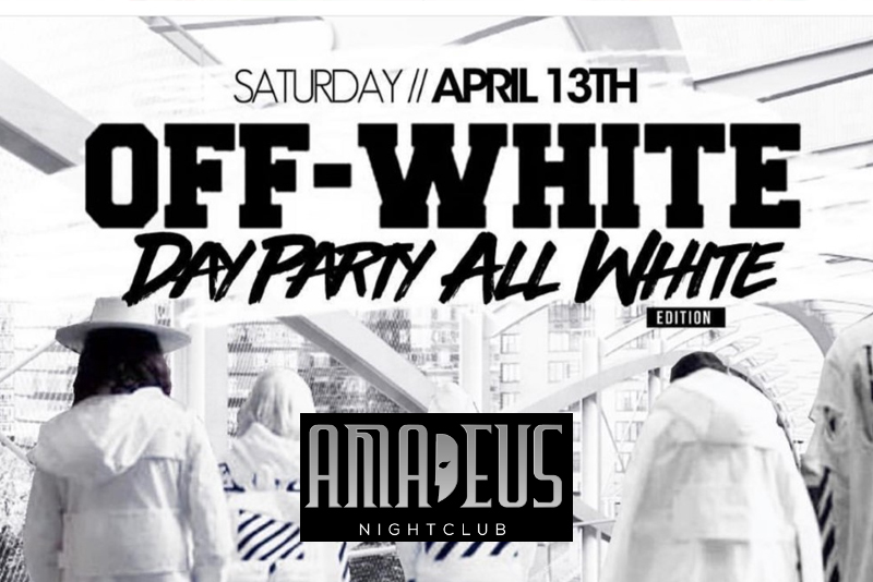 Hot 97 Off White Day Party All White Edition at Club Amadeus 2019 Sat April 13 tickets party | GametightNY.com