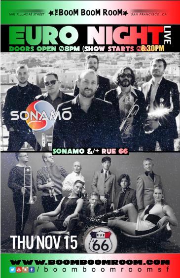 Euro Night Live - Sonamo, Rue '66, MSK: Main Image