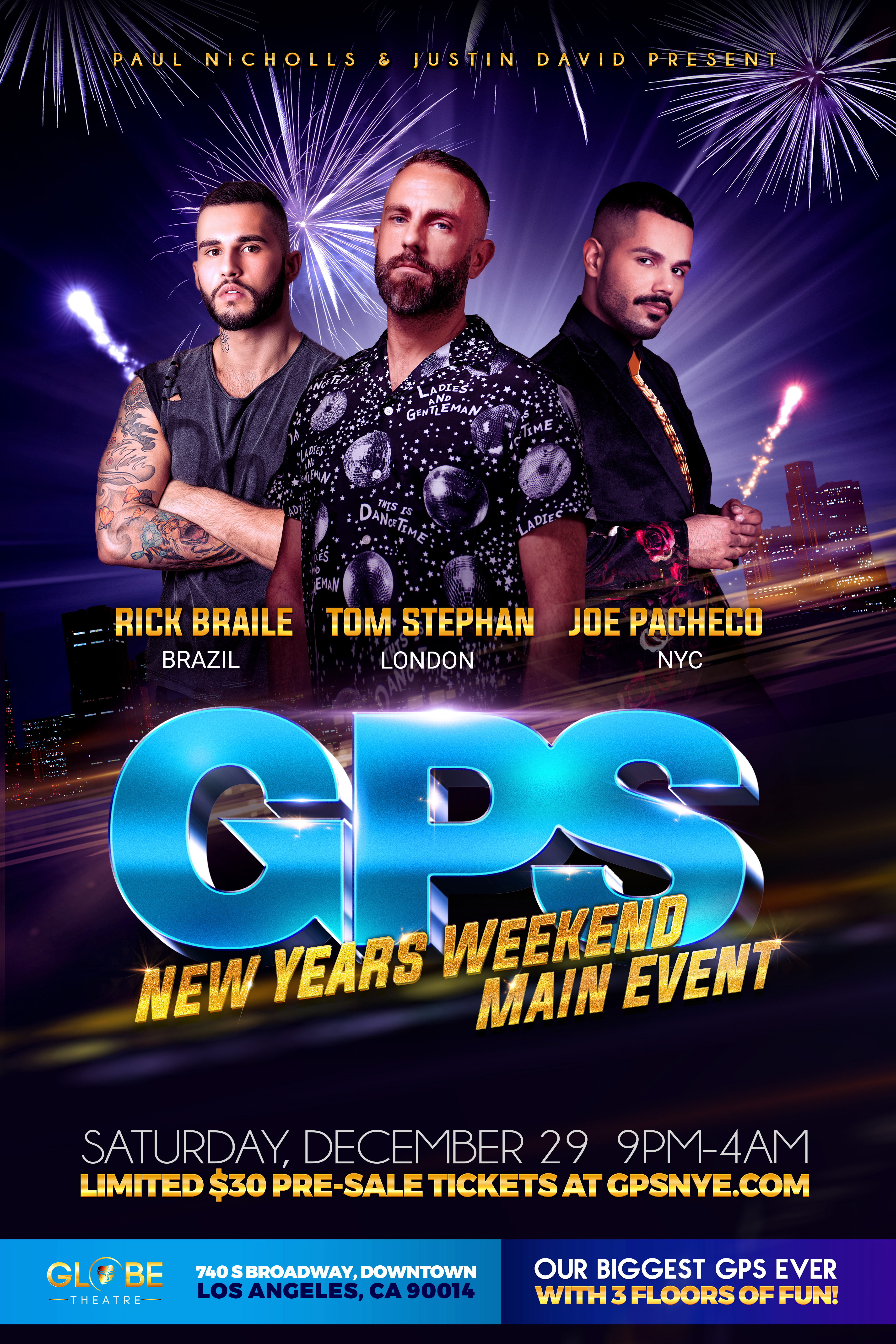 Buy Tickets to GPS: NEW YEARS WEEKEND MAIN EVENT in Los ...