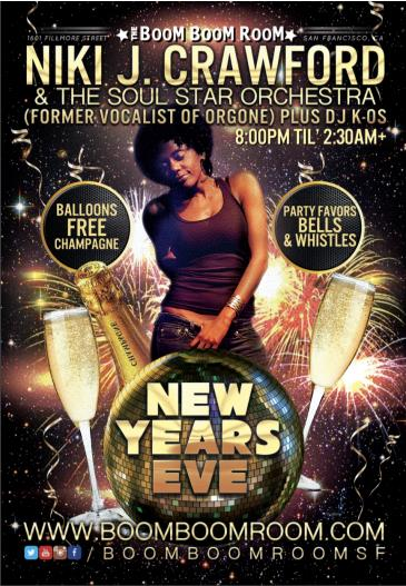 New Year's Eve Soul Party:  *Niki J Crawford*  (frmr Orgone): Main Image