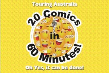 BONKERZ PRESENTS 20 COMICS IN 60 MINS Comedy Slam 8:45pm: Main Image