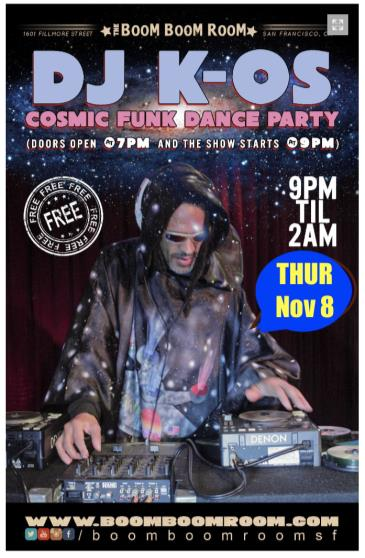 DJ K-OS Cosmic Funk Disco Dance Party  (Free Show): Main Image