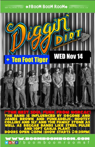 "Diggin Dirt + Ten Foot Tiger  ""Second Wednesdays Monthly"": Main Image"