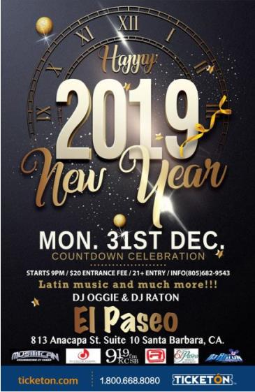 HAPPY NEW YEAR 2019: Main Image