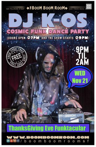 DJ K-OS Cosmic Funk Disco Dance Party  (Free Show): Main Image
