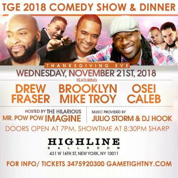 NYC Thanksgiving Eve Comedy Show & Dinner Highline Ballroom: Main Image