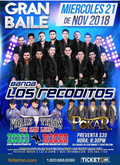 Banda Los Recoditos Winston Tickets Boletos Disco Rodeo