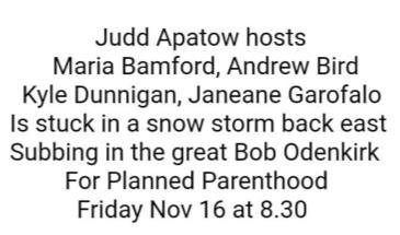A Benefit for Planned Parenthood w/ Judd Apatow and Friends!: Main Image