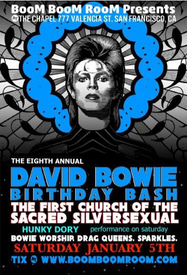 DAVID BOWIE BASH @ The Chapel *Sacred SilverSexual* saturday: Main Image