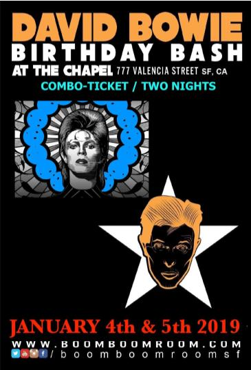 DAVID BOWIE BASH - (combo-ticket two nights) @ The CHAPEL: Main Image