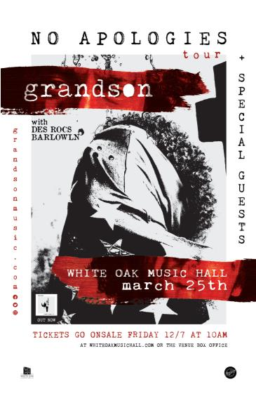 grandson: No Apologies Tour w/ Des Rocs and BarlowLN: Main Image