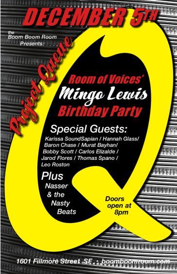 Project Queue & Mingo Lewis (of Carlos Santana)Birthday Show: Main Image
