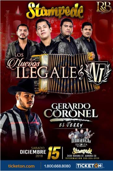 LOS NUEVOS ILEGALES Y GERARDO CORONEL: Main Image