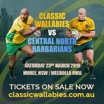 Classic Wallabies vs Central North Barbarians
