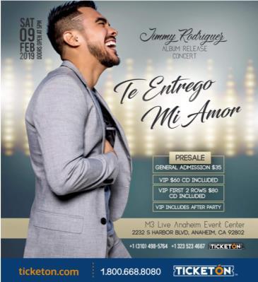 JIMMY RODRIGUEZ ALBUM RELEASE CONCERT: Main Image