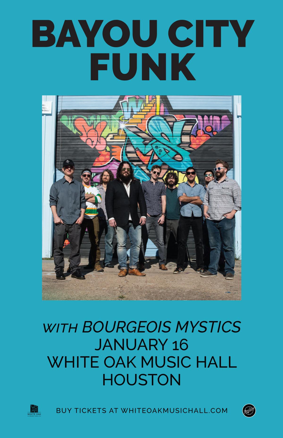 Buy Tickets to Bayou City Funk, Bourgeois Mystics in Houston