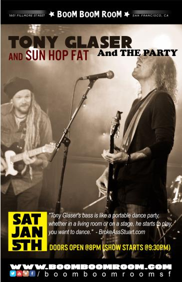 Tony Glaser And The Party, Sun Hop Fat,  Kevvy Kev (at BBR): Main Image