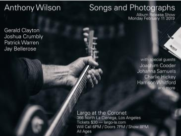 "Cancelled - Anthony Wilson — ""Songs and Photographs"": Main Image"