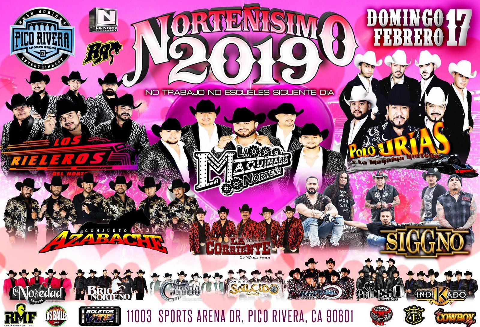 Buy Tickets To Nortenisimo 2019 Rieleros Maquinaria P Urias Azabache