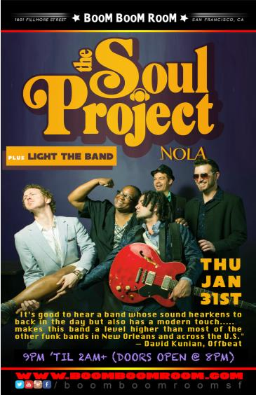 THE SOUL PROJECT (Direct From New Orleans debut) +Light Band: Main Image