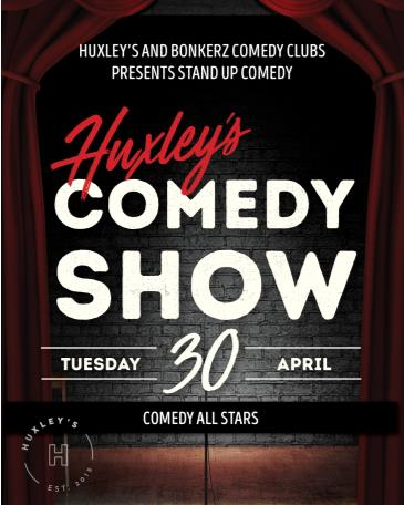 BonkerZ Comedy Allstars & Huxley's: Main Image