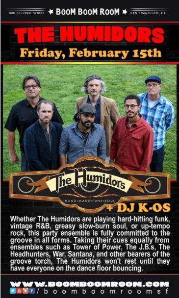 The Humidors  (and DJ K-Os): Main Image