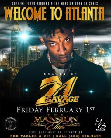 The Big Game Weekend hosted by 21 Savage: Main Image