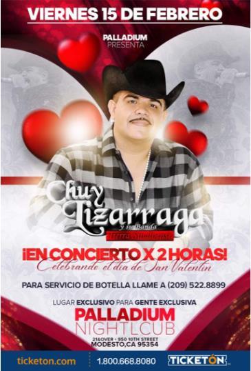 CHUY LIZARRAGA EN CONCIERTO X 2 HORAS: Main Image