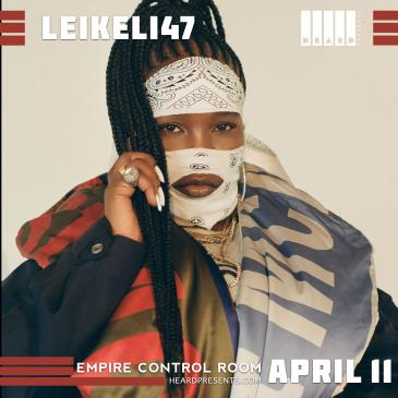 "LEIKELI47 ""ACRYLIC TOUR"" at Empire Control Room: Main Image"